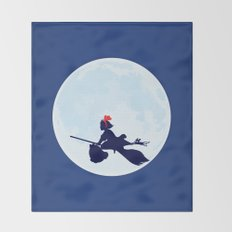 Kiki's Delivery Service Poster Throw Blanket