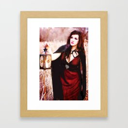 Is She a Good Witch or a Bad Witch?  Framed Art Print
