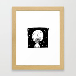 You cannot look upon the night sky and not wonder what it's like to be amongst the stars. Framed Art Print
