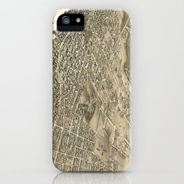 Vintage Pictorial Map of Halifax (1879) iPhone Case