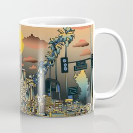 los angeles city skyline Coffee Mug