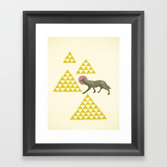 Mountain Wolf Framed Art Print