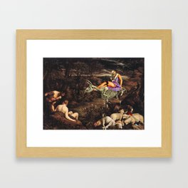 Us and the Animals Framed Art Print