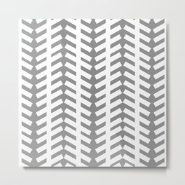 Linear Illusion Metal Print