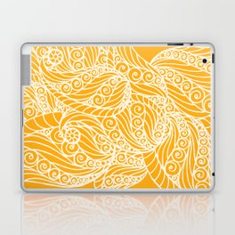 White and Yellow Feathers Laptop & iPad Skin