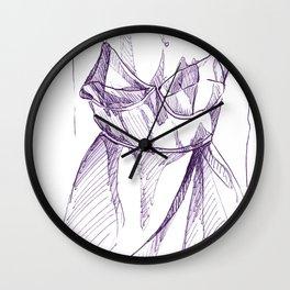 Bra-Top Dress Wall Clock