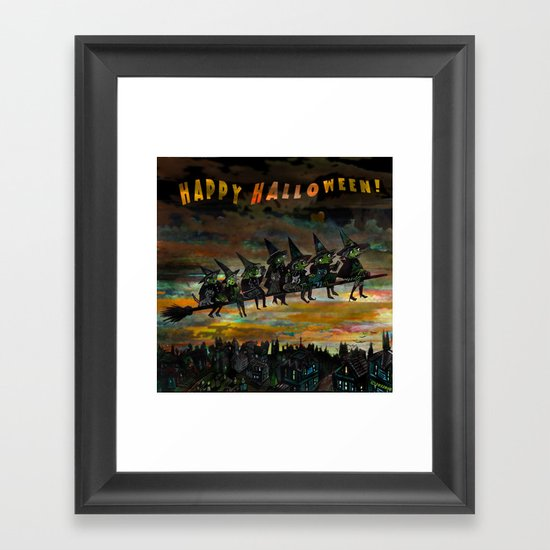 Night Flying.  Framed Art Print