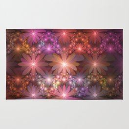 Bed Of Flowers Abstract, Fractal Art Rug