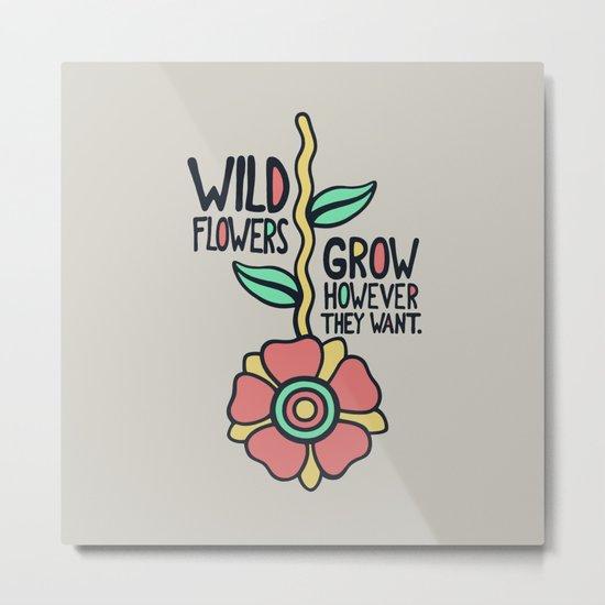 W/LDFLOWER Metal Print