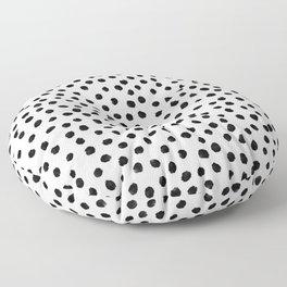 Dalmation Brushstroke Spots Floor Pillow