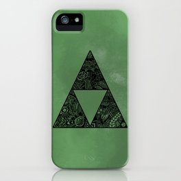 Triforce on Green iPhone Case