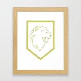 Phi Lambda Chi Lion Framed Art Print
