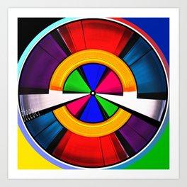Test Pattern Clock Art Print