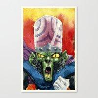 jojo Canvas Prints featuring Mojo Jojo by Roger Cruz