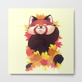 Relaxing Red Panda Metal Print