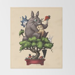 Forest Guardian Bonsai  Throw Blanket
