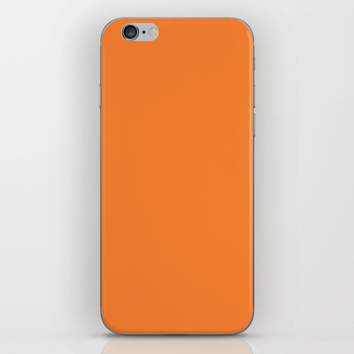 Tangerine - Solid Color Collection iPhone Skin
