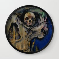 vampire Wall Clocks featuring Vampire by Michael Creese