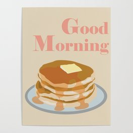 Morning Pancakes Poster