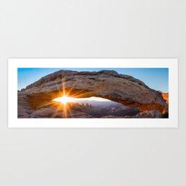 Mesa Arch Sunrise Wide Angle Panorama Art Print