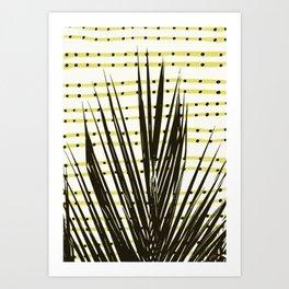 Line dot plant Art Print