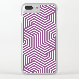 Plum - violet - Minimal Vector Seamless Pattern Clear iPhone Case