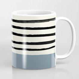 Dusty Blue x Stripes Coffee Mug