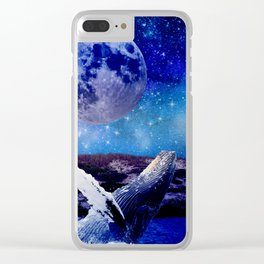 Humpback Whale Clear iPhone Case