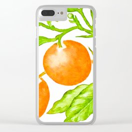 Branch of an Orange tree in Autumn Clear iPhone Case