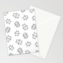 Pangnupark Hippo Bear B&W I Stationery Cards