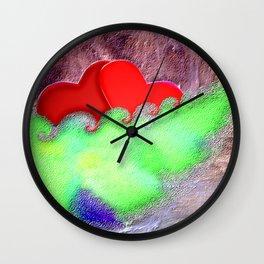 Love in heavy sea ... Wall Clock