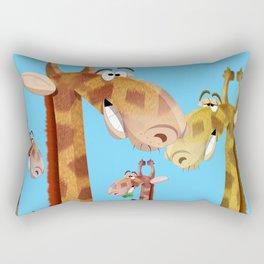 Giraffes in trees Rectangular Pillow