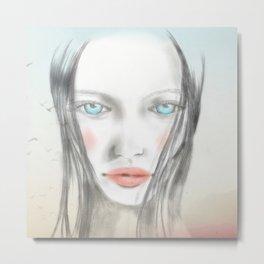 Nina floating Metal Print