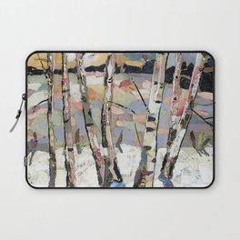 Birches in witnter Laptop Sleeve