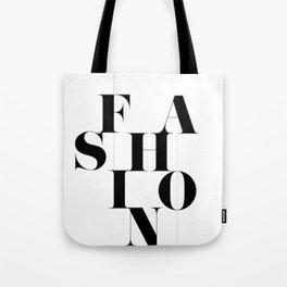 "Classic ""Fashion"" Typography Tote Bag"