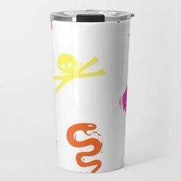 Bully Print Rainbow inverse Travel Mug