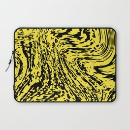 Aggressive yellow marble pattern Laptop Sleeve