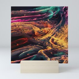 Abstract Voxel Landscape 12 Mini Art Print