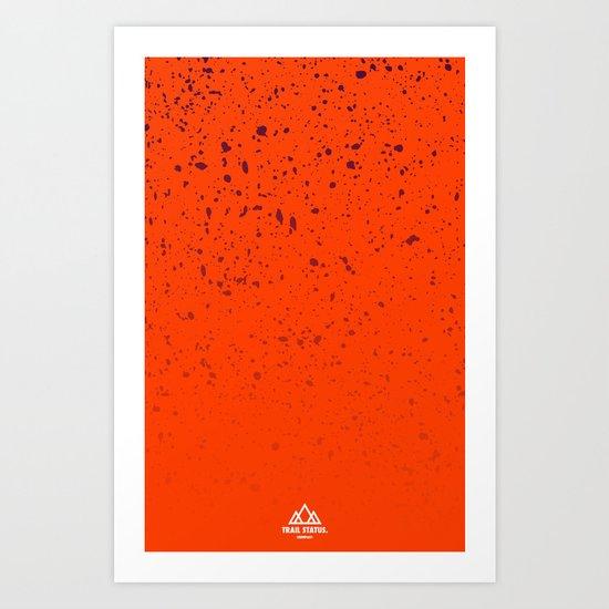 Trail Status / Orange Art Print