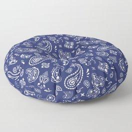 Blue Bandana Floor Pillow