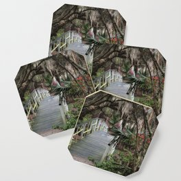 Southern moss and flowers Coaster
