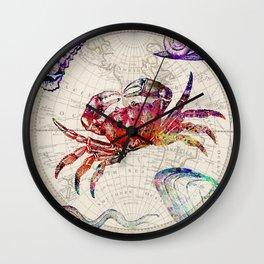vintage sea life Wall Clock