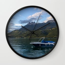 Boat Lake Annecy Wall Clock