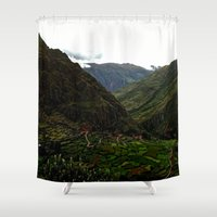 peru Shower Curtains featuring Rural Peru by Miranda Stein