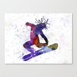 young snowboarder Canvas Print