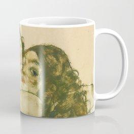 """Egon Schiele """"Two Women Embracing"""" Coffee Mug"""