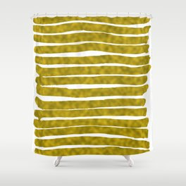 Gold Lines Shower Curtain