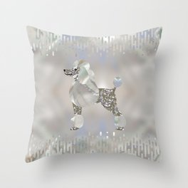 Luxury Pearl and Abalone Poodle Throw Pillow