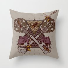 Honey Trap Throw Pillow