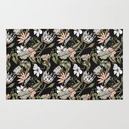 Dark pattern botanical boho Rug